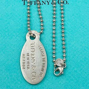 Authentic  Return to Tiffany & Co Oval Necklace